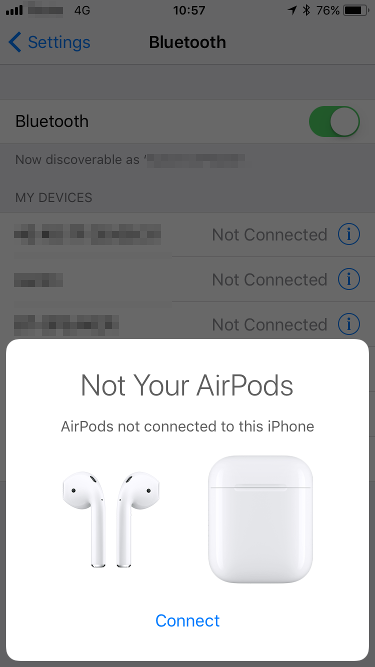 Re-pair AirPods